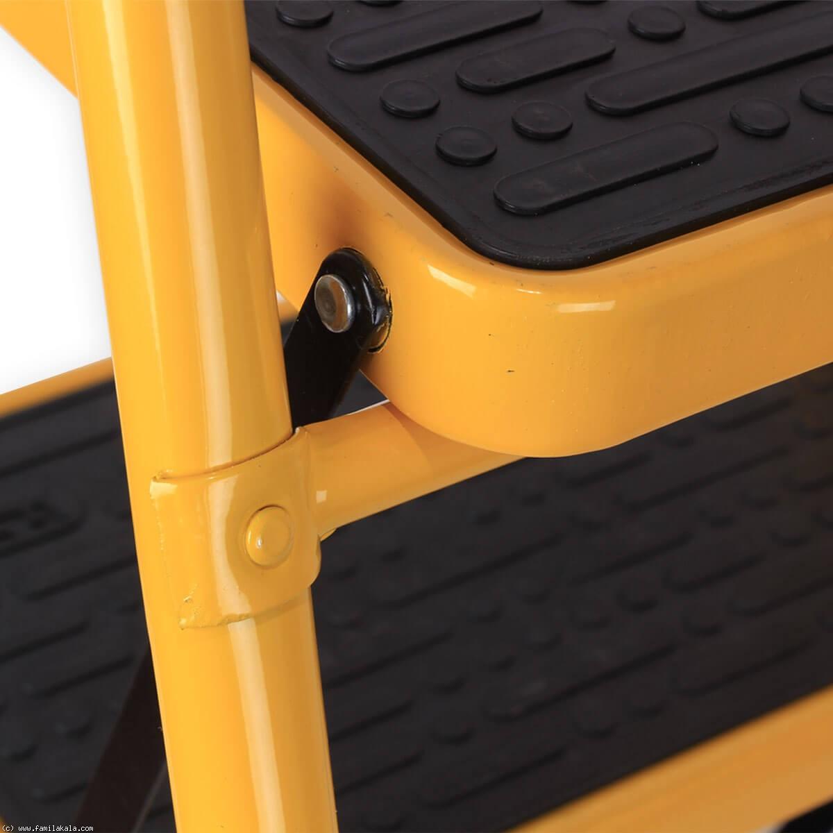 نردبان ایران پایه مدل 4 پله زرد