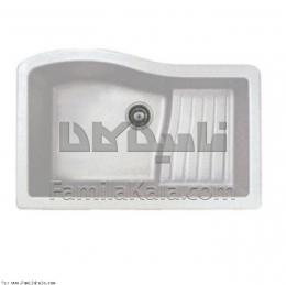 سینک ظرفشویی آروما گرانیتی موادی مدل دانوب سفید