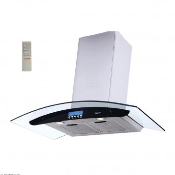 هود آشپزخانه بیمكث شومینه ای مدل B2012U مشکی