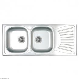 سینک ظرفشویی داتیس توکار مدل DB-125 استیل