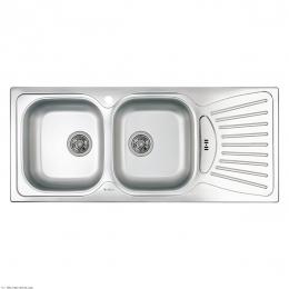 سینک ظرفشویی داتیس توکار مدل DB-127 استیل