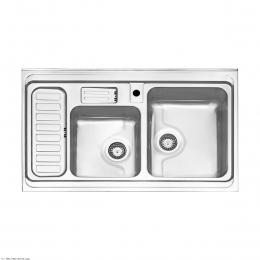 سینک ظرفشویی استیل البرز روکار مدل 812/60