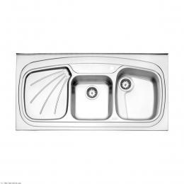 سینک ظرفشویی استیل البرز روکار مدل 270/60