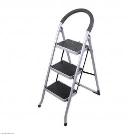 نردبان ایران پایه مدل 3 پله نقره ای