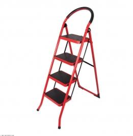 نردبان ایران پایه مدل 4 پله قرمز