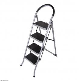 نردبان ایران پایه مدل 4 پله نقره ای