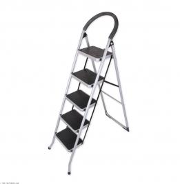 نردبان ایران پایه مدل 5 پله نقره ای