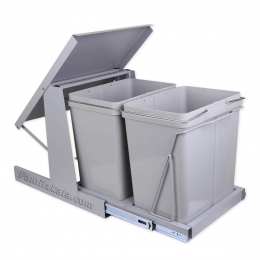سطل زباله دو مخزنه ریل کف مدل 832 بزرگ