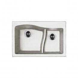 سینک ظرفشویی کن مدل  gzl3322 گرانیتی سفید