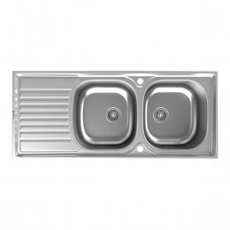 سینک ظرفشویی داتیس توکار مدل DB-137 استیل