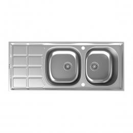 سینک ظرفشویی داتیس توکار مدل DB-135 استیل