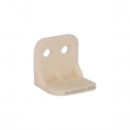 گونیا کابینت سفید کوچک پلاستیکی 2/7*2/7 سانت
