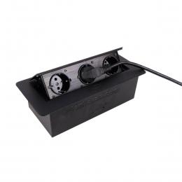پریز توکار کابینت مدل 2172 مشکی لمسی