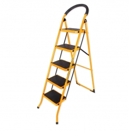 نردبان ایران پایه مدل 5 پله زرد