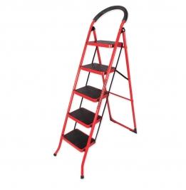 نردبان ایران پایه مدل 5 پله قرمز